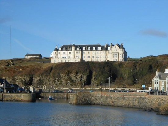 The Portpatrick Hotel:                   view from village