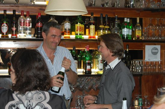 Hotel Roc de Sant Miquel:                   Paul & Nick getting the champers going on New Years Eve