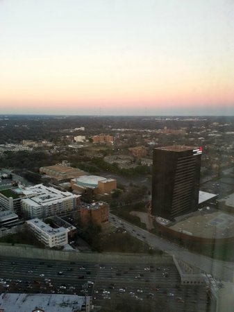 Atlanta Marriott Marquis:                   View from the 40th floor