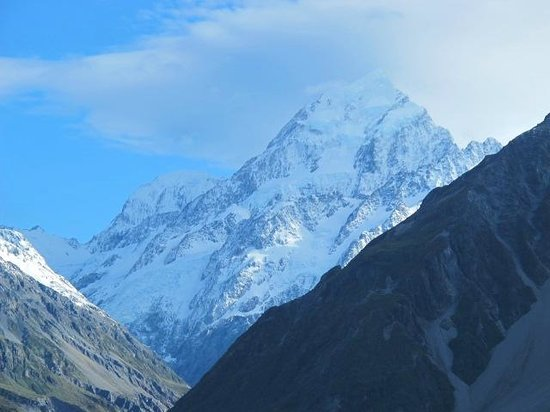 The Hermitage Hotel: View of Mt Cook in the morning