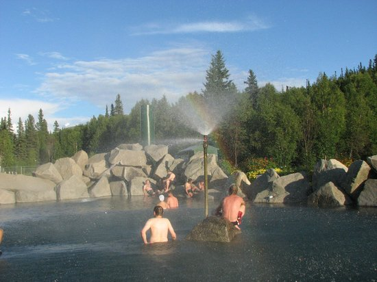 Chena Hot Springs Resort:                                     Hot water spa in Alaska!!!