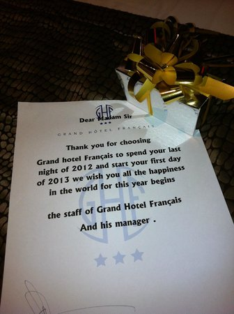 Grand Hotel Francais: New Year's gift :) (pralines)
