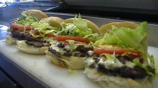 The 'Billy Burger and Bakery' double cheeseburgers