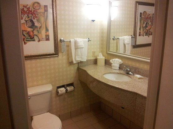 Hilton Garden Inn - West Lafayette: View of the toilet, clean