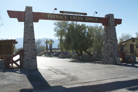 Furnace Creek Inn and Ranch Resort:                   Entrance to Furnace Creek Ranch
