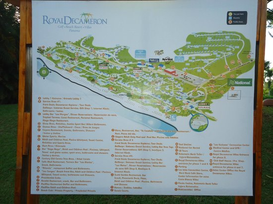 Royal Decameron Beach Resort, Golf & Casino: Mapa