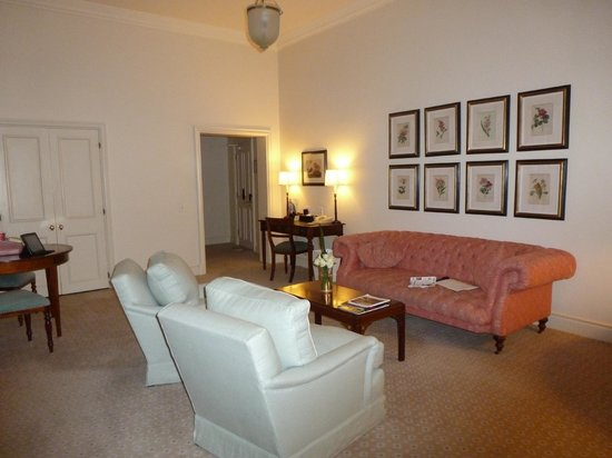 Belmond Mount Nelson Hotel:                   suite sitting room
