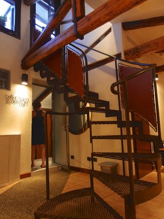 Ca' Pisani Hotel:                   Stairs to the Rooftop Terrace