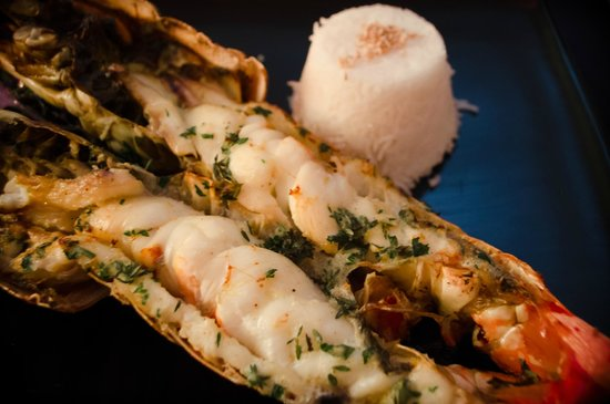 Lounge 8 : special-ordered lobster