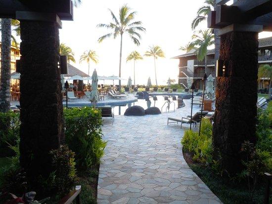 Koa Kea Hotel & Resort:                   Pool view from lobby