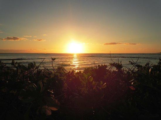 Koa Kea Hotel & Resort:                   Sunset from the hotel grounds