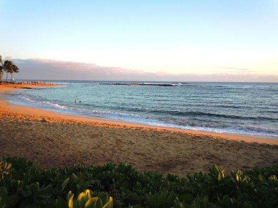 Koa Kea Hotel & Resort:                   Sunset on Poipu Beach.  Colors are amazing...