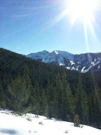 A.A. Taos Ski Valley Wilderness Adventures:                   A view from above Taos Sky Valley