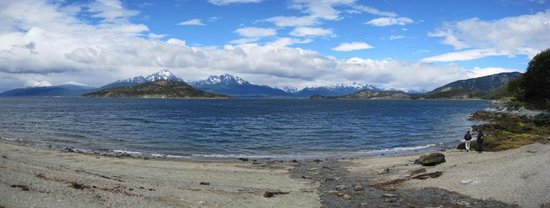 Hotel Austral: view from coastal trail - Tierra del Fuego
