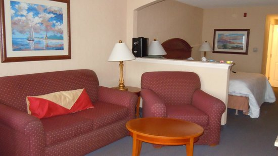 Hilton Garden Inn Kent Island: Extra large living/sleeping area