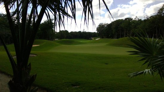 Iberostar Golf Club Playa Paraiso: #14 green with typical rolling surface
