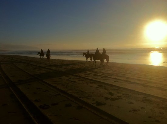 Green Acres Equestrian Center: Sunset ride on the beach in Pacific City