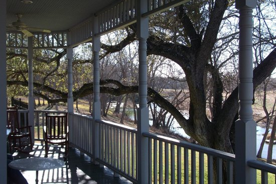 Inn on the Creek:                   View from the back porch