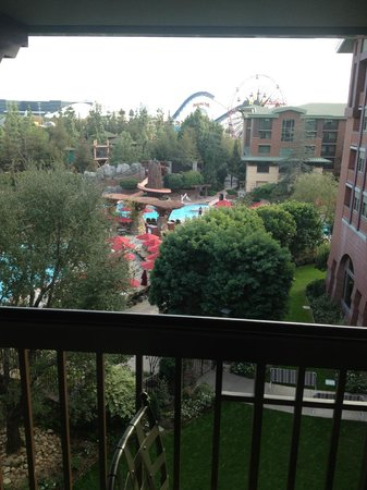 Disney's Grand Californian Hotel & Spa: You can see the park
