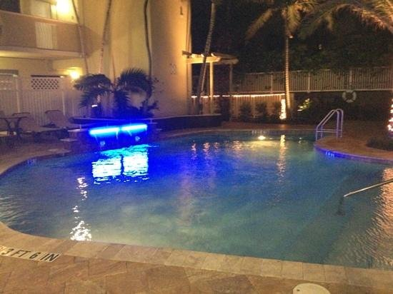 Sun Tower Hotel & Suites:                   pool at night