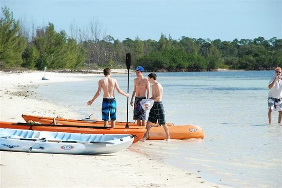 Chad4Nature Tours - Private Tours:                   preparing to kayak out to the blue hole