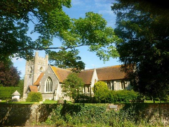 The Stag & Huntsman at Hambleden: VIllage of Hambleden church