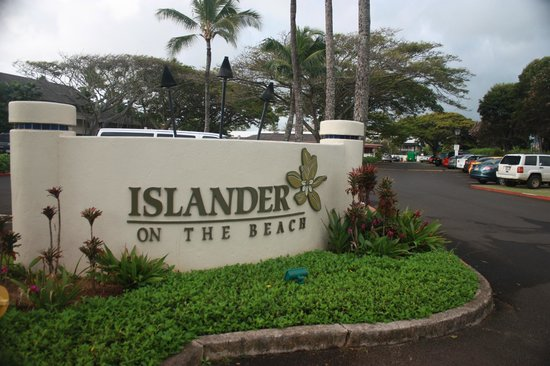 Aston Islander on the Beach: Entrance to the hotel parking lot/grounds.