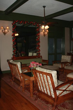 Aston Islander on the Beach: Hotel lobby decorated for Christmas (2012)