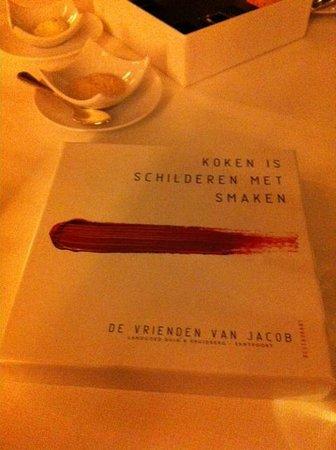 Landgoed Duin & Kruidberg:                   Prachtige quote van Restaurant Vrienden van Jacob