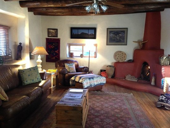 Hacienda del Sol:                   Cozy communal family room, also circa 1804.
