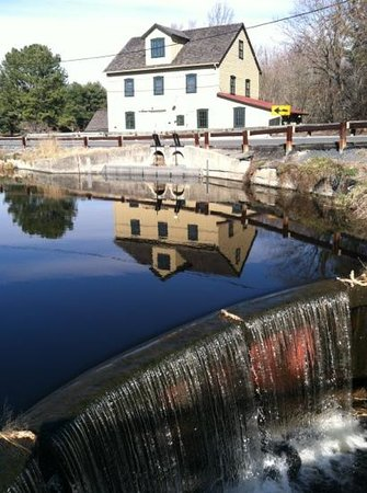 Abbott's Mill Nature Center:                   the mill from the dock on the pond