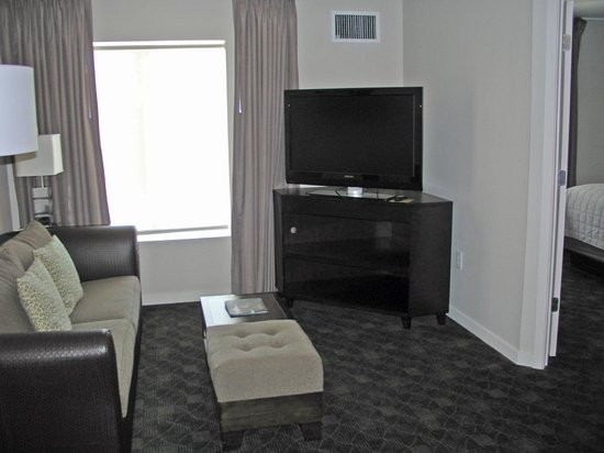 HYATT house Raleigh Durham Airport: living room area