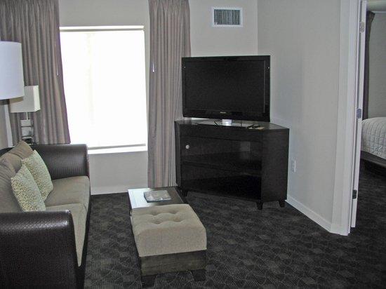 HYATT house Raleigh Durham Airport : living room area