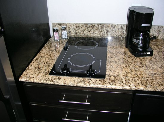 HYATT house Raleigh Durham Airport: two burner cook top on kitchen counter