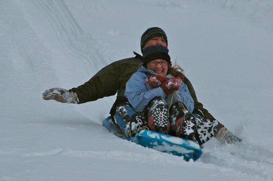 1824 House Inn: We have the BEST sledding hill!