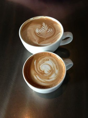 Bold Bean Coffee Roasters:                   Latté (top) and Cappuccino (bottom)