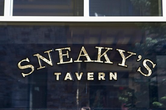 Sneakys Tavern : Outdoors at Sneaky's