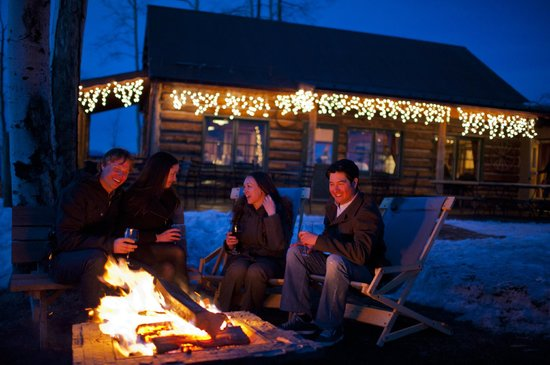 Lynn Britt Cabin: Outdoor fire pit & s'mores