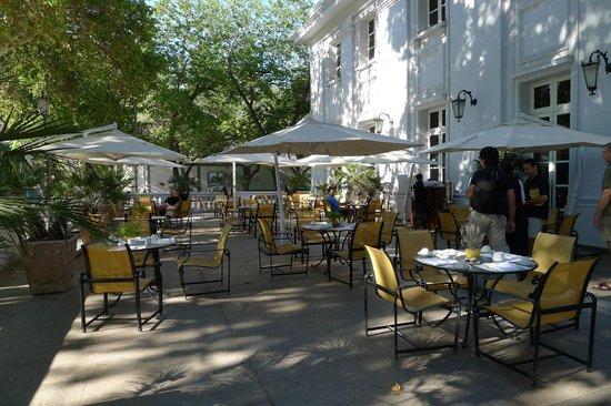 Park Hyatt Mendoza:                   Front of hotel dining for Breakfast