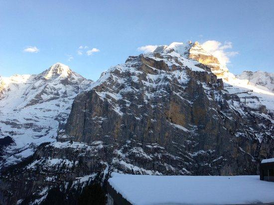 Eiger Guesthouse:                   View from our room