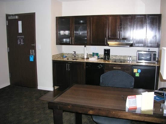 "HYATT house Raleigh Durham Airport: handicap (""assessable"") kitchen does not have full size refrigerator nor coat closet as other ro"