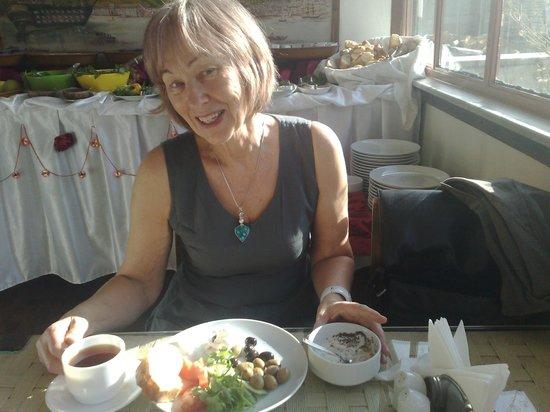 Atlantis Hotel:                   Mediterranean breakfast, I love it.