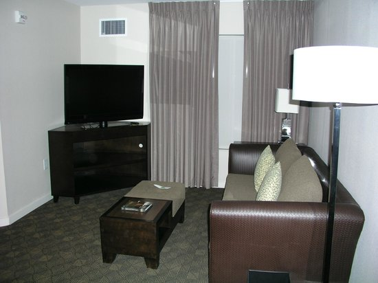 "HYATT house Raleigh Durham Airport : handicap (""assessable"") living room area"