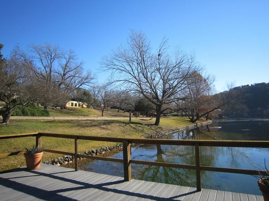 Lake Austin Spa Resort:                   View of lake from one of the docks.