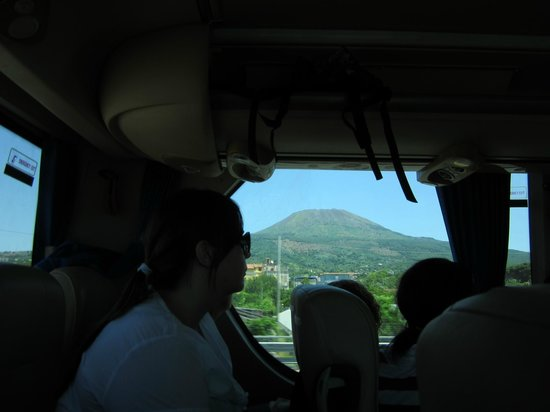 Appian Line Tours Rome :                   Sitting at the back of the bus, don't do it if you don't like heat. Mt. Vesuvi