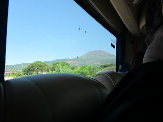 Appian Line Tours Rome :                   Back of the bus again- Vesuvius- great if air conditioned.