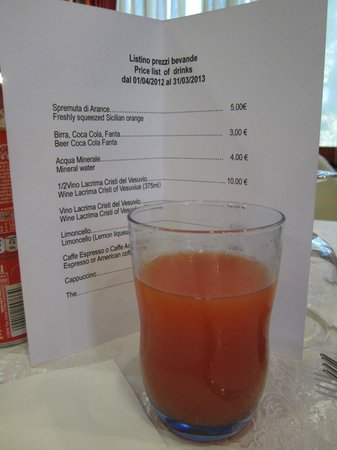 Appian Line Tours Rome :                   Great juice, just really overpriced -Pompeii