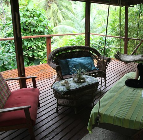 Cocoa Cottages:                   Balcony outside the room