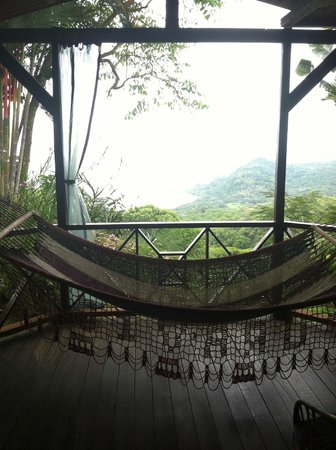 Pacific Edge:                   Porch, hammock and the view