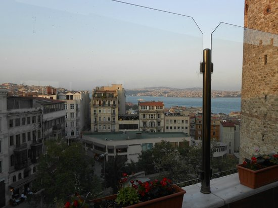 Anemon Galata:                   View from terrace